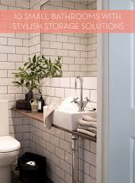 Bathroom Storage For Small Bathrooms by Roundup 10 Small Bathrooms With Stylish Storage Curbly