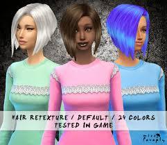 sims 4 blue hair sims 4 custom hair sims 4 24 default hair retextures download