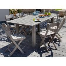 table de jardin haut de gamme beautiful salon de jardin en acacia gris ideas amazing house