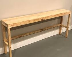 natural wood console table long console table narrow console table natural wood