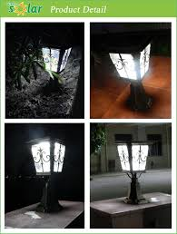 Solar Light For Fence Post - lighting ce decorative garden solar light fence post cap with