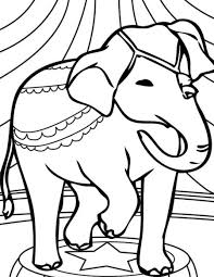 coloring pages animals elephant with a balloon coloring page