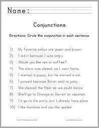 conjunction worksheets for 3rd grade worksheets
