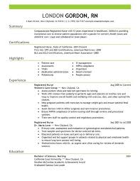 Sample Resume For Experienced Candidates by Example Nursing Resume Cover Letter New Grad Nurse Sample Graduate