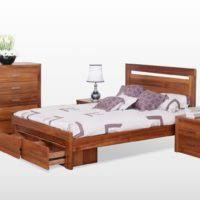 furniture black queen size bed frame with storage and bookcase