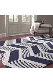 Home Decor By Color Blue Zig Zag Rug Roselawnlutheran