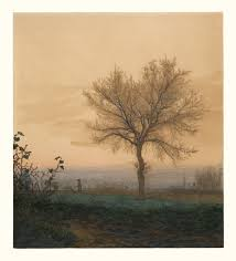 landscape with a bare tree and a plowman getty museum