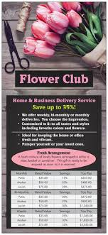 monthly flower delivery flower club roaring oaks florist