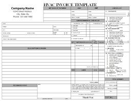 Hvac Estimate Template by Hvac Repair Invoice Hvac Invoice Templates