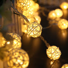 rattan ball fairy lights 10 rattan ball led string fairy lights outdoor christmas lights home
