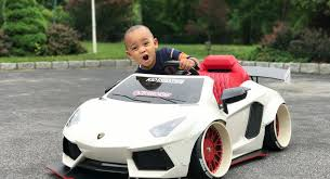 lamborghini toddler car kidstance builds customized luxury power wheels cars for