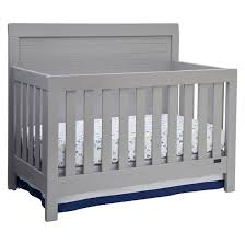 simmons kids slumbertime rowen 4 in 1 convertible crib gray