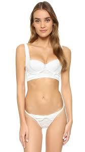 ella moss ella moss brigitte longline bra in white lyst