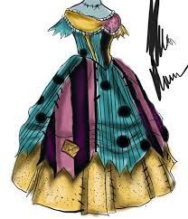 nightmare before sally dress design by xxhipstercanadaxx