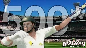 how do you celebrate when you make 500 on don bradman cricket 17