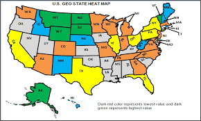 heat map us states geographical heat map excel how to edit colors data range in us
