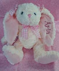 personalized easter bunnies personalized baby gift cubbie stuffed animal plush by kntry5
