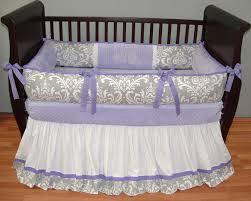 Baby Crib Bedding For Girls by Brooklyn Lavender Baby Bedding This Custom 3 Pc Baby Crib Bedding
