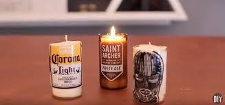 diy beer bottle glass cutting u0026 candles hometalk