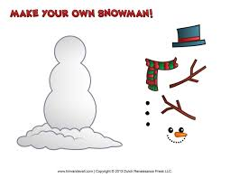 snowman template u2013 snowman coloring page best images collections