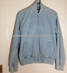 Light Blue Jacket Mens Vintage Blue Denim Bomber Jacket For Men Light Blue Denim Jacket