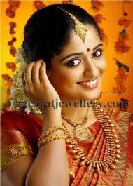 kavya madhavan in traditional gold jewellery jewellery designs