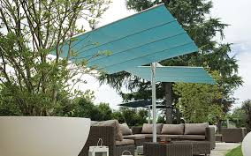 furniture large cantilever patio umbrella in tan with white stand