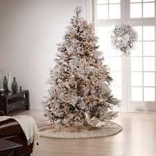 colin cowie flocked 7 1 2 white artificial tree a