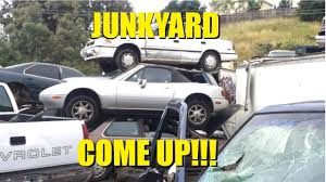 car junkyard near me miata junkyard comeup youtube