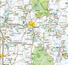 Wall Map Vermont Laminated Wall Map Jimapco