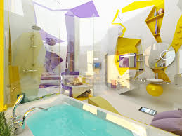 modern purple yellow bathroom design interior design ideas