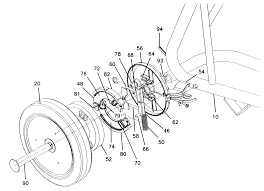patent us6237725 cart automatic brake mechanism google patents