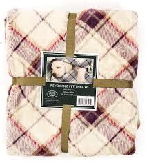 Hooded Dog Bed Laura Ashley Reversible Laura Ashley Reversible Micro Fur Sherpa