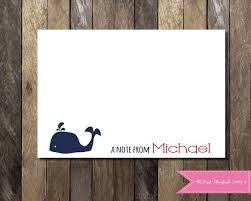 nautical thank you cards nautical thank you card personalized note card kids thank you