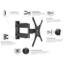 Cable Management System For Wall Mounted Tv W6 Wmx015 Full Motion Tv Mount For Tv Up To 47