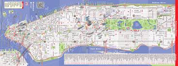 Walking Map Of Manhattan New York City by Download Street Map Of Manhattan Ny Major Tourist Attractions Maps