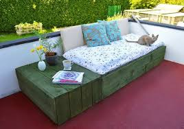 pallet project patio day bed lovely greens