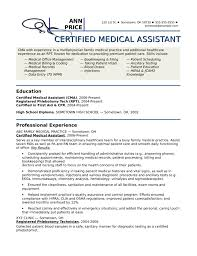 Resume Template For Medical Assistant Creative Medical Assistant Resume Template