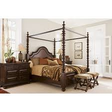 Poster Bed by Tommy Bahama Kilimanjaro Candaleria King Poster Bed Lx 0552 174c