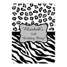 black and gray 50th birthday invitations u0026 announcements zazzle
