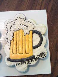 Mug Of Beer Cupcake Birthday Cake For 21st Birthday Cakes