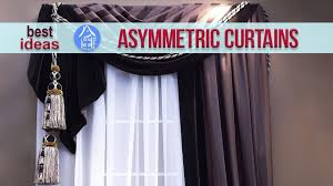 window curtains design u2013 modern asymmetrical ideas for living