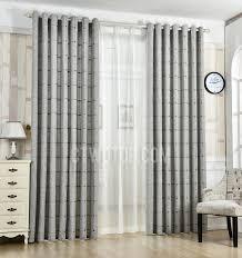 gray plaid patterned jacquard linen cotton blend contemporary