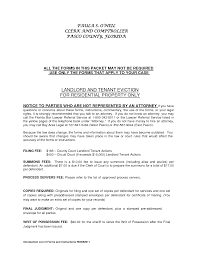 Notice Of Termination Of Tenancy Sample by Residential Landlord Tenant Eviction Notice Form By Ere72906