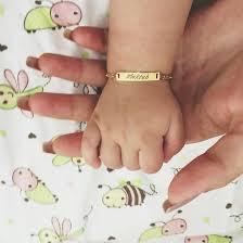 baby name bracelet gold baby name bracelets in rubber bracelets