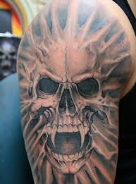 skull vampire tattoo design for men on sleeve vampire tattoos