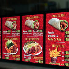 restaurants with light menus led illuminated restaurant menu boards sign innovative