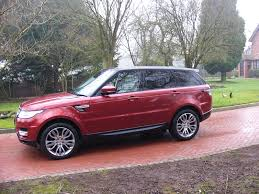 land rover red range rover sport 3 0 sdv6 dynamic spec hse in red metallic with
