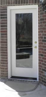 Exterior Door With Window Flush Glazed Glass Frameless Fiberglass Exterior Doors