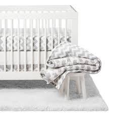 Grey Chevron Crib Bedding Set The Peanutshell Crib Bedding Set Ellie Chevron 5pc Gray Target